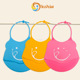 Mothers' helper soft convenient and easy washing silicone baby bib adjustable