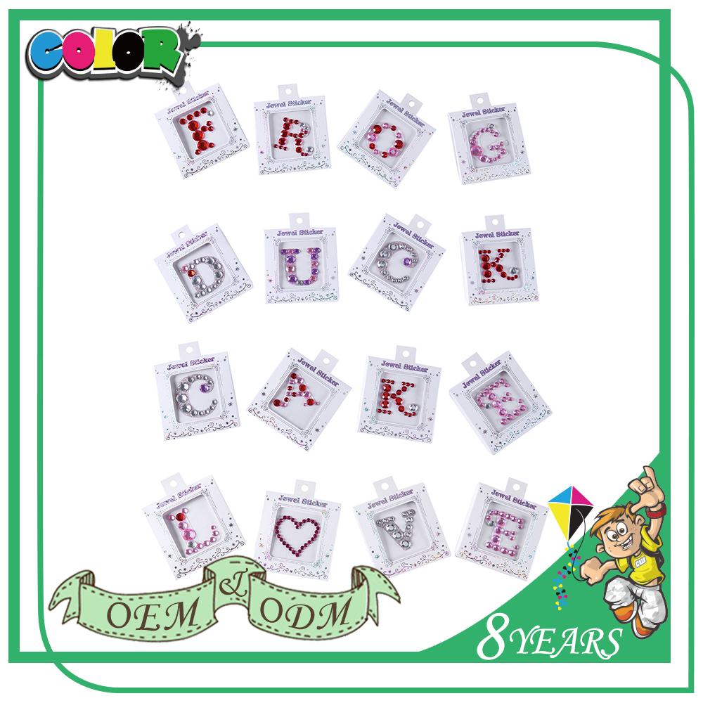 Bling Face Jewel Diamante Crystal Stickers