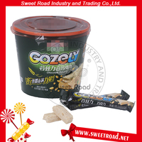 Hot Sale Gozely White Coated Stick Chocolate Candy with Nut