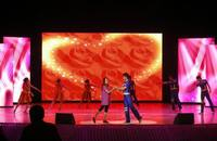 Asram full color LED curtain display,LED mesh,LED grid
