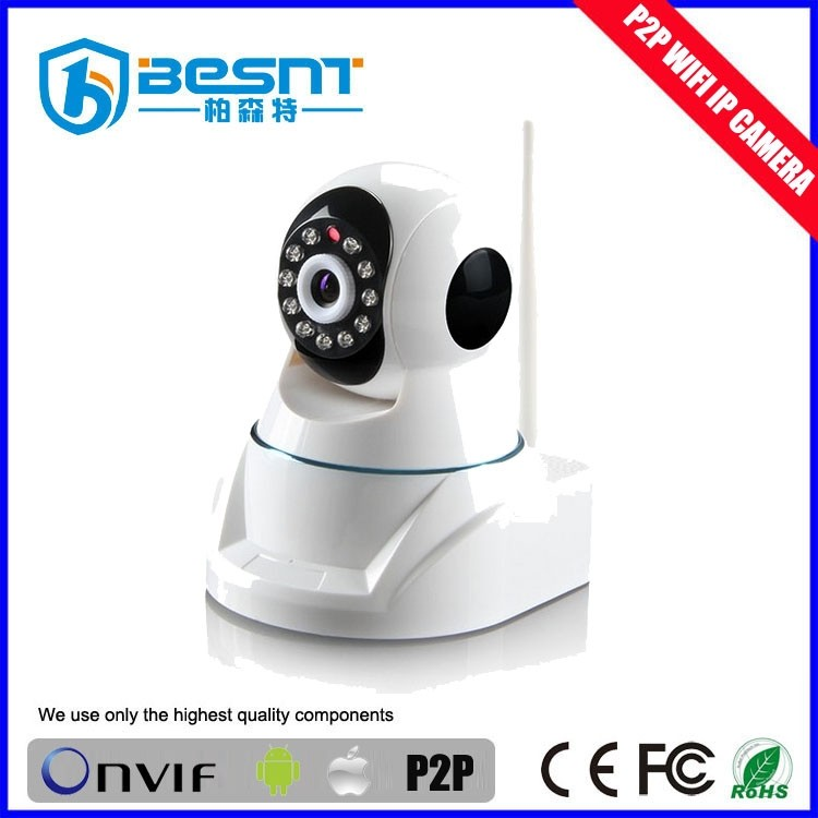 2016 Besnt new product Onvif mini dome wireless camera 720P P2P wifi ip camera free mobile control built in dvr BS-IP09
