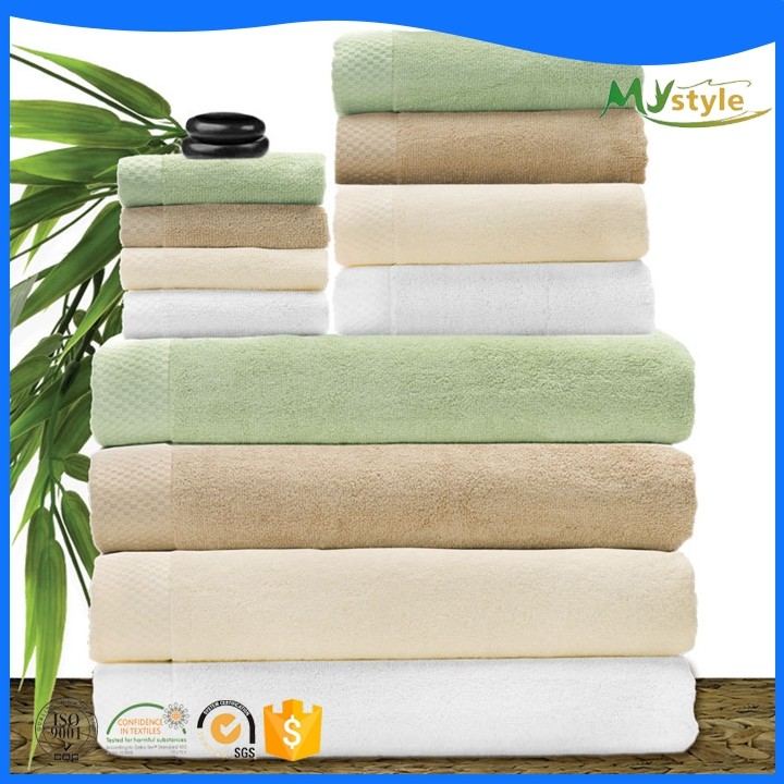 Personalized cotton organic terry fabric bath towel with china supplier