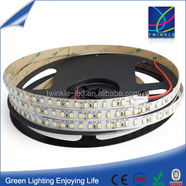 5m 48W 24V Epistar smd 3528 LED Tape 3000K warm white flexible strip 120leds/m light, no voltage drop