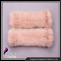CX-A-61D China Wholesale Excellent Ladies Women Knitted Mink Fur Gloves