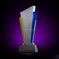 factory direct sale custom laser engraving crystal glass trophy and award crystal souvenir