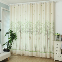 Double curtain rod cotton shower curtain living room curtain