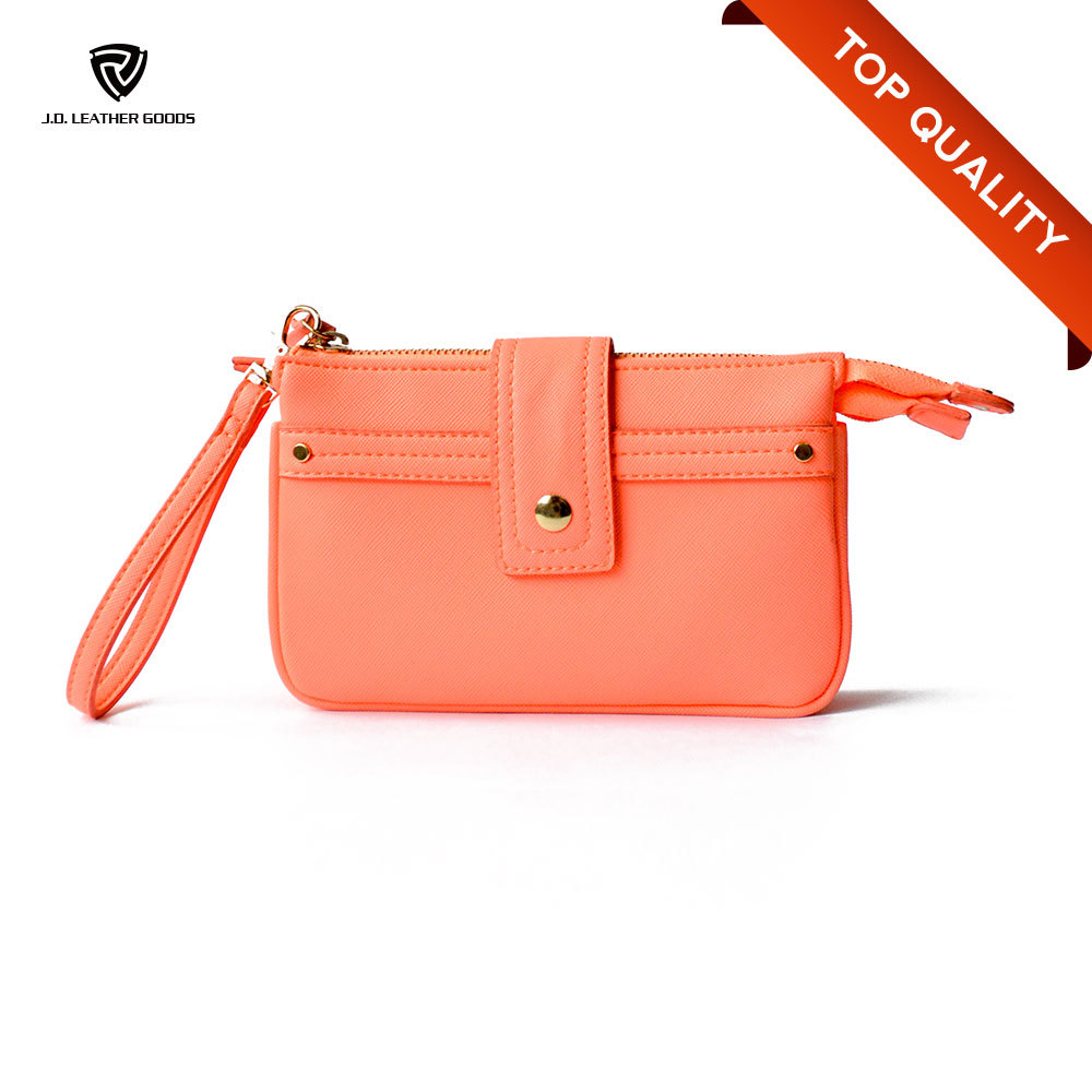 Magnetic PU Low Price Ladies Pars Hand Ladies Wallet/Woman Money Bag