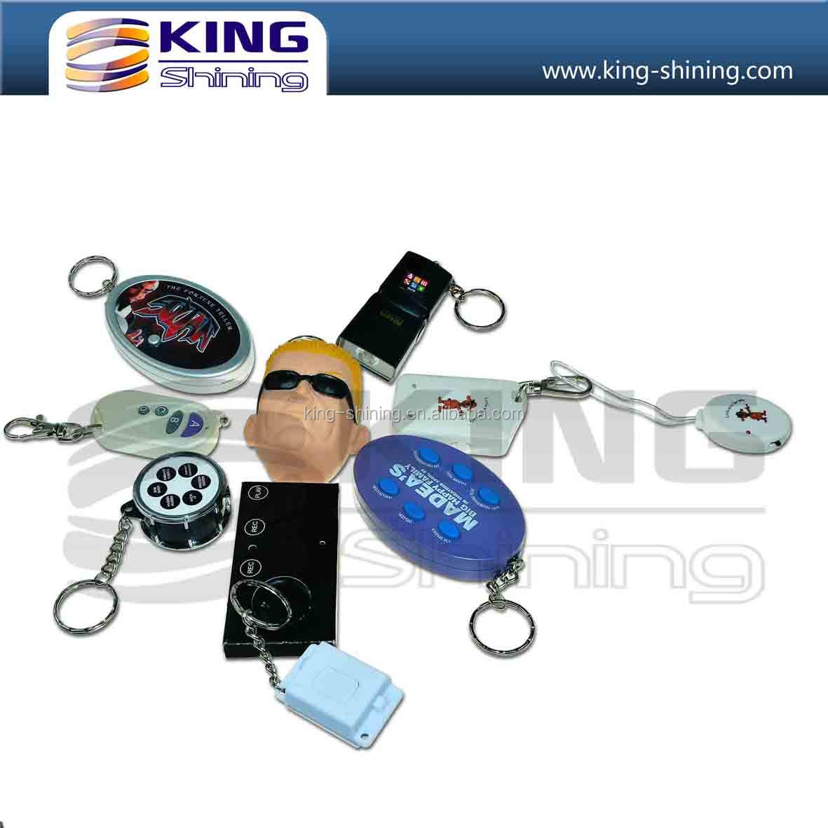 Best sell recordable sound/music keychain/car keychain for promotion gifts