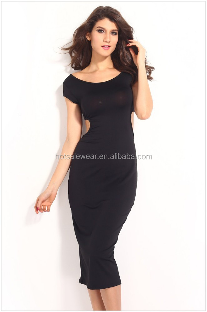 Wholesale Discount Women Open back Side Cut outs Party Midi Dress LC6376 free sample accepted