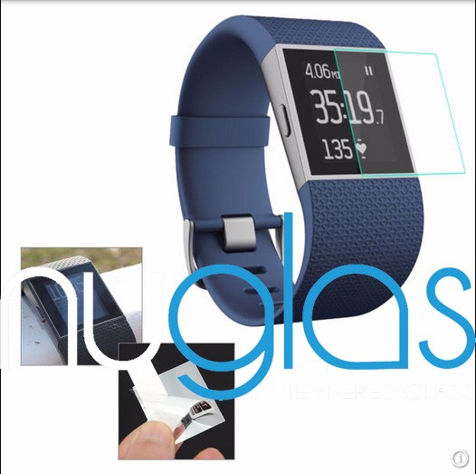 Hot sale !!!!Tempered Glass for Fitbit Blaze 2.5D Arc Edge Screen Protector for Fitbit Blaze sport watch with heart rate monitor