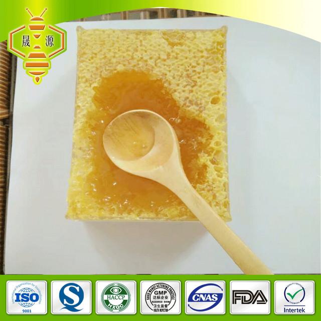 SHENGYUAN natural hive honey cake organic chewable bee comb honey