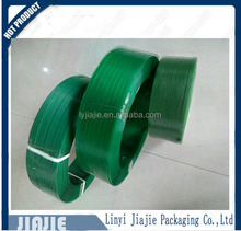 China green PET packing strap for glass bottles packaging