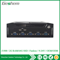 Latest high qualified Aluminum Fanless 6 COM 6 USB 2 Ethernet embedded computer system mini pc with Intel J1900 quad core CPU