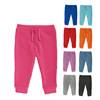 Baby Plain Color 80% Cotton 20% Polyester Soft Brushed Fleece Baby Pants