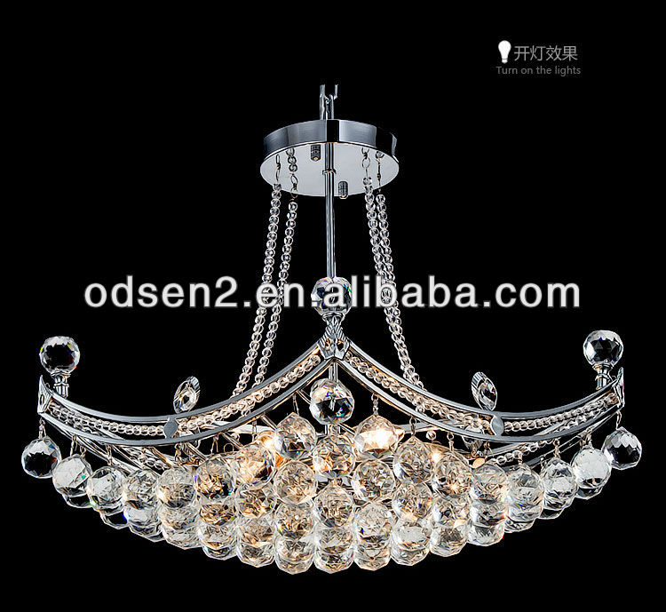 Odsen modern luxury fashion gold crystal chain ceiling lamp for home made in China