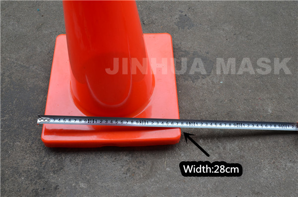 18 inch reflective PVC road safety cone