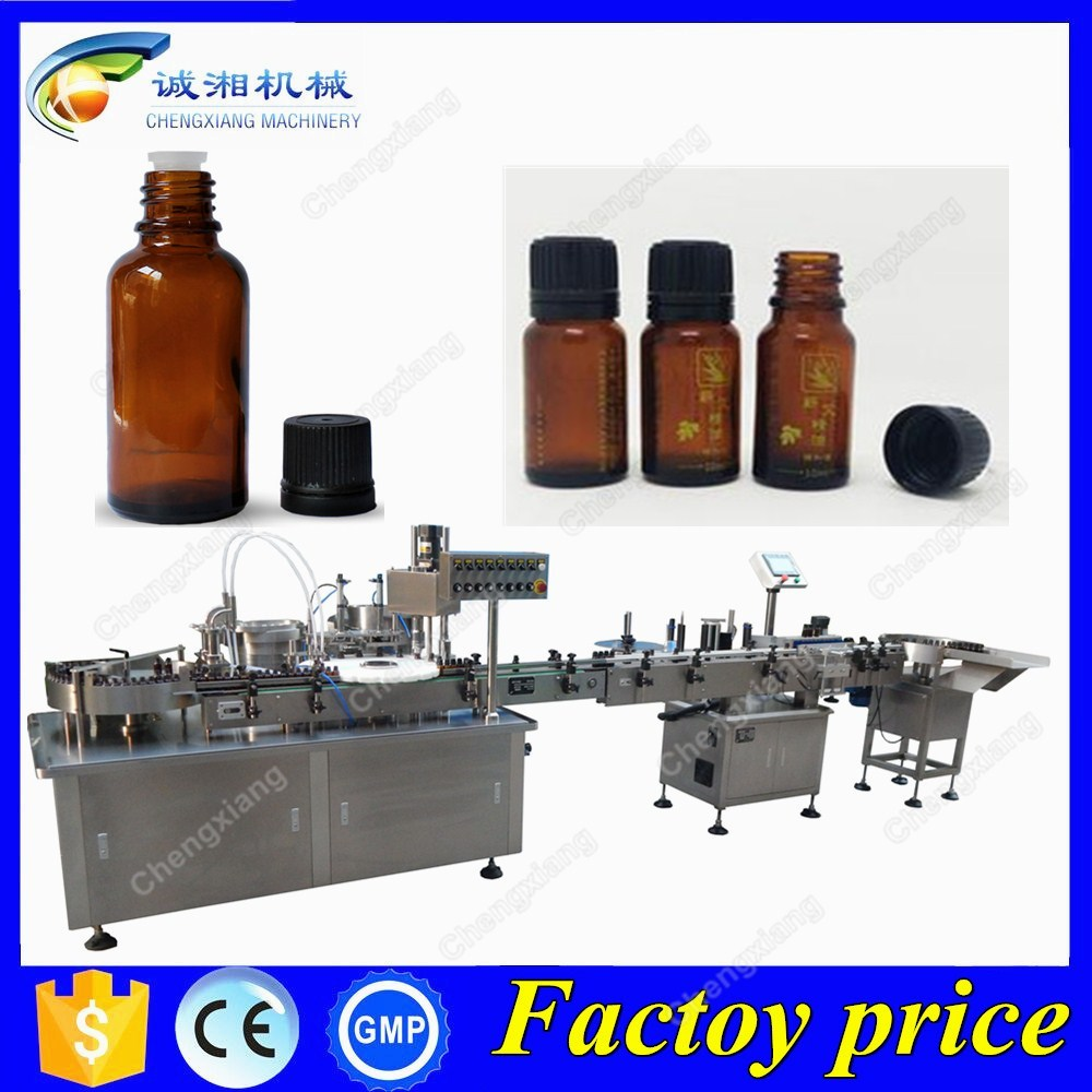 Big dis count essential oil filling and packaging machine,120ml essential oil filling line
