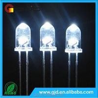 Hot sale 2-pin round head 5mm white diode led