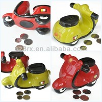 Custom design coin bank;Cool motorcycle coin bank box