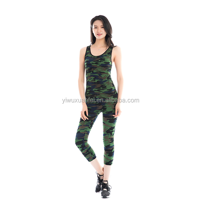 Best Hot Selling Seamless Pants Yoga Fitness Gear Women Tight Fit Workout Clothes Camouflage Yoga Suits