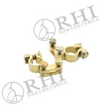 positive and negative spring terminal negative battery terminal clamp