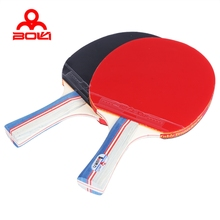 Table Tennis Ping Pong Racket Set Two Pimples-in Rubber Bats Three Balls