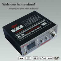 battery low voltage/LCD display amplifier chassis with USB/TF card Microphone YT-368A