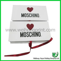 Top popular high quality white printed paper gift boxes manufacturer