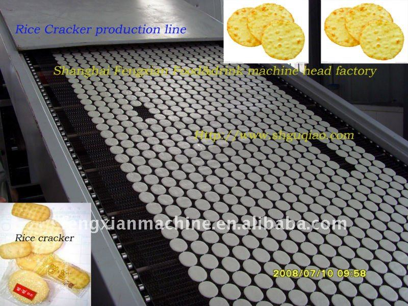 Rice cookie production line