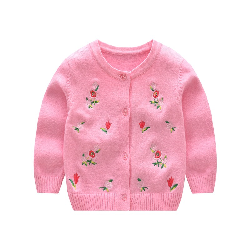 ZZ0100 Spring and autumn Girl's cardigan baby rabbit's corduroy cardigan sweater small coat