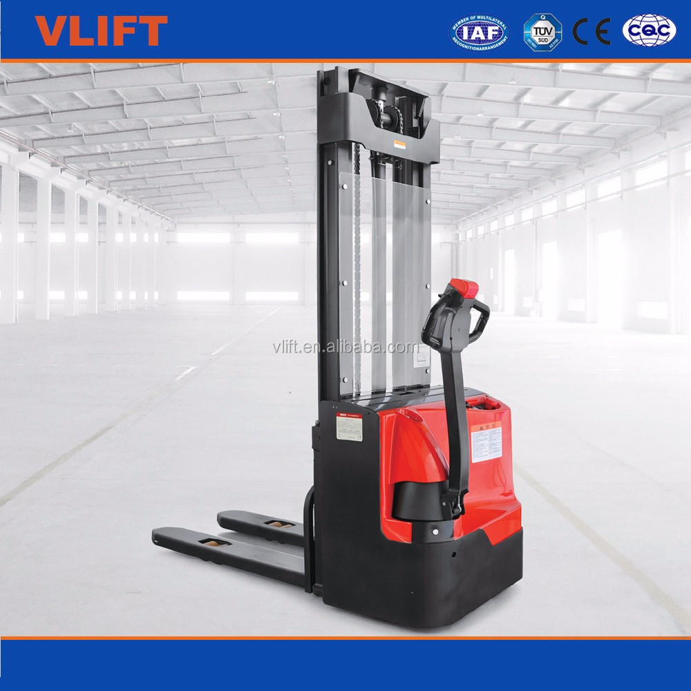 2 ton pedestrian electric stacker with longer working life