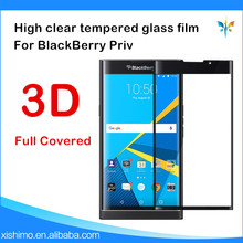 3D Full screen cover clear tempered glass film screen protector for BlackBerry Priv