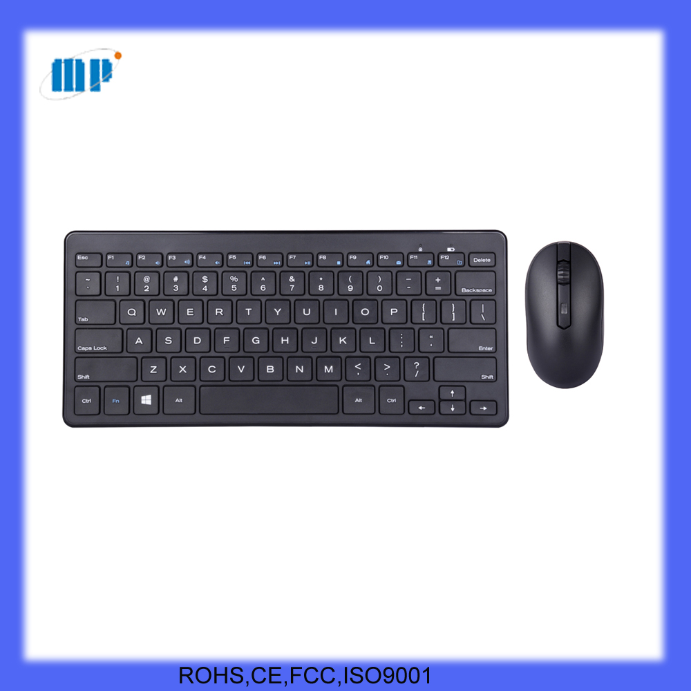 2.4G mini wireless mouse and keyboard for laptop and desktop