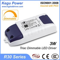 KEGU R30 3W Triac Dimmable LED Driver with CE SAA