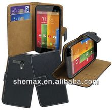 Full Protective Leather Case with Credit Card Slots & Holder for Motorola Moto G / XT1032/moto x