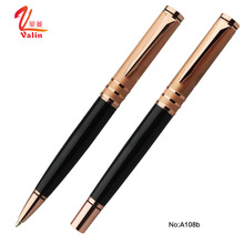Rose Gold Twist Heavy Metal Ballpoint Pen With Gift Box Customized Pen Logo Advertising Pen