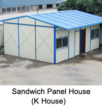modular steel and glass house sandwich panel prefabricated house home business