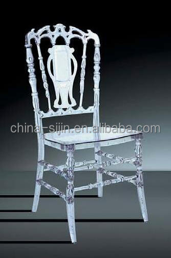 Acrylic crystal transparent chairs french style furniture elegant chairs for restuarant/hotel/home