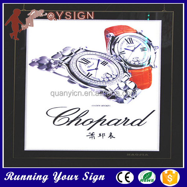 Customized Super Slim LED Crystal Light Box Frame
