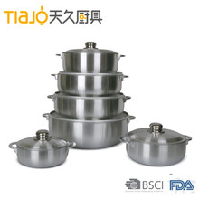 Aluminum Caldero /sauce pot with bubble bag packing and high quality low price
