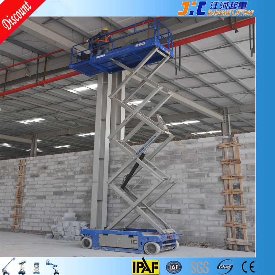 12 m man lifting equipment window cleaning lift scissor lift