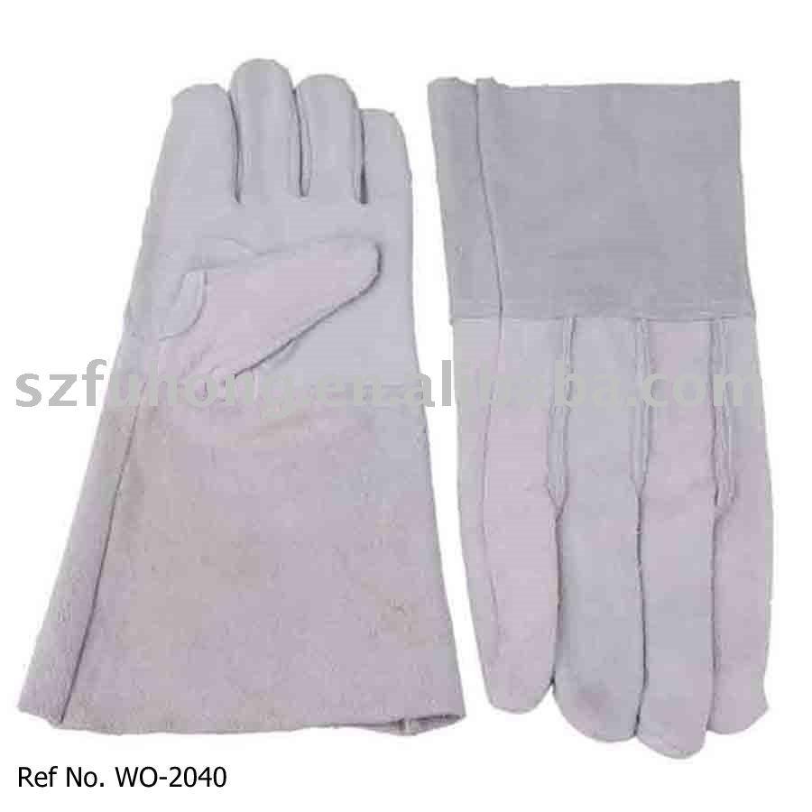 Gauntlet cuff leather work gloves - Safety Working Gloves Welders Gauntlet Safety Working Gloves Welders Gauntlet Suppliers And Manufacturers At Alibaba Com