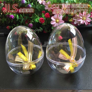 Clear acrylic balls Plastic easter egg toy candy