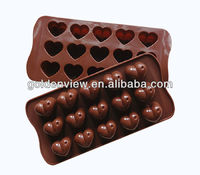heart shaped silicone chocolate candy jelly soap mold mould ice cube freezer tray freezing pan