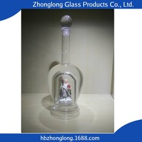 China Supplier New Products Free Sample Yellow Glass Wine Bottle