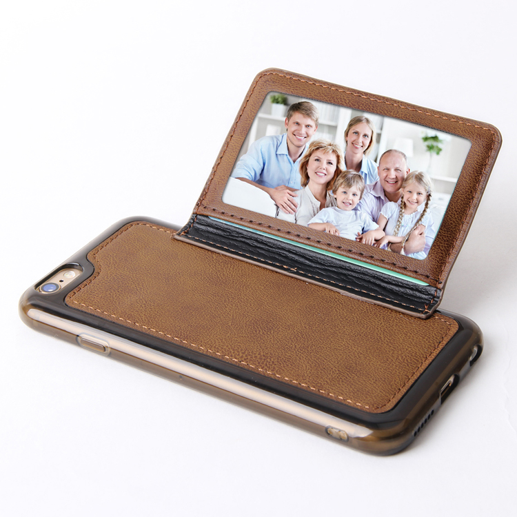Card Holder Wallet Leather Case for iPhone 6 6s Case with Photo Frame PU Flip Stand Cover