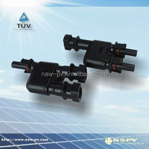 Good quality MC4 T- Branch Solar Cable power connector solar module pair quick connect electrical connectors