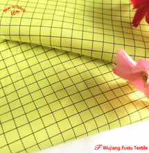 China supplier 2/1 twill polyester cotton blend uniform conductive thread carbon fiber fabric
