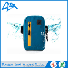 Light blue Sports Running armband waterproof case for samsung galaxy grand prime