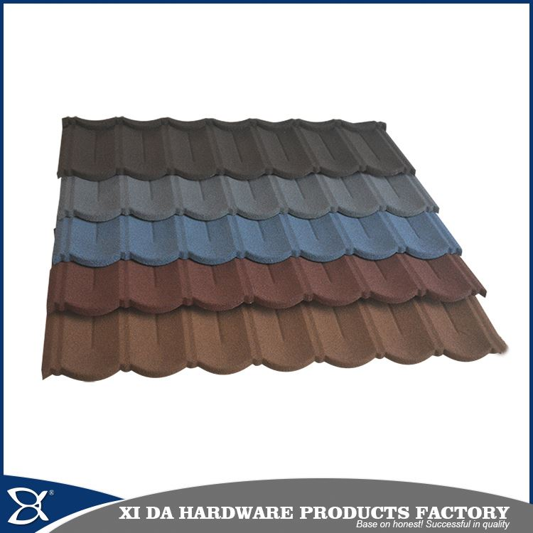 Stone chips coated steel tile /corrugated roofing sheet/metal roofing asphalt shingles